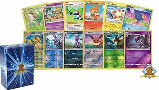 100 Tarjetas Surtidas De Pokemon Con 8 Hojas Inversas Incluy