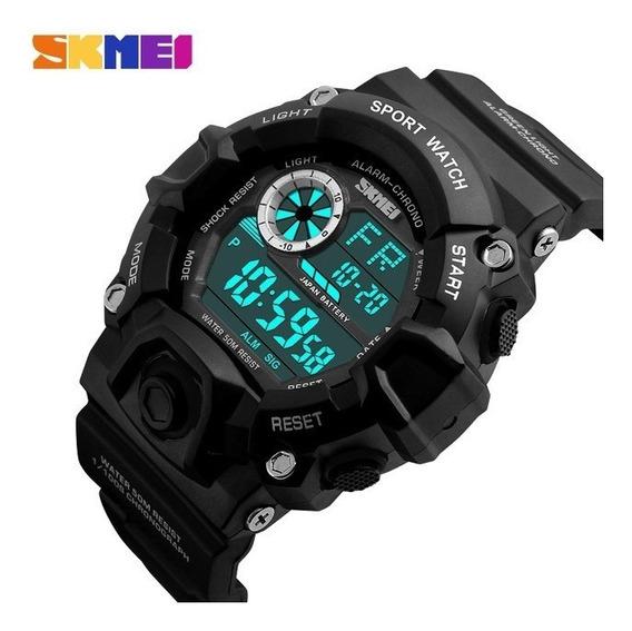 Relógio Skmei Masculino 1019 Esportivo Militar Led + Brinde