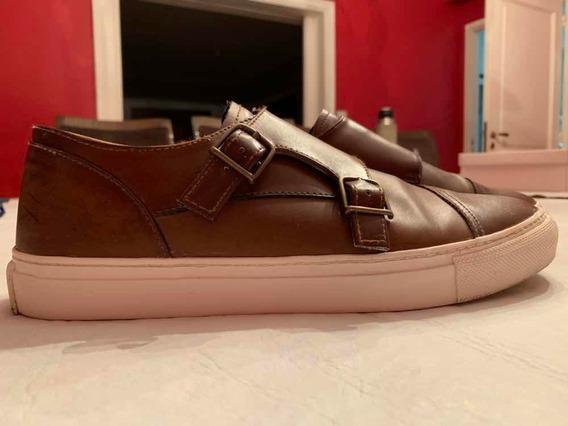 Zapatos Zara Cuero Suela De Goma. Talle 43(eu)