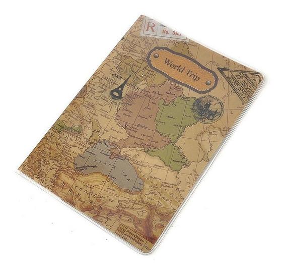 Capa Carteira Trabalho E Passaporte Em Pvc Mapa Mundi