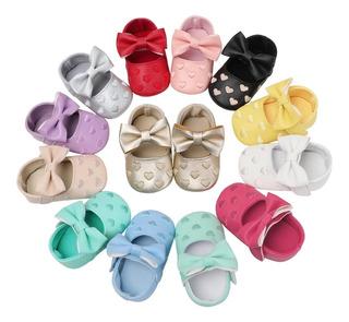 Zapatitos Bebé Niña 0-6 /6-12 Meses Oferta 1 (11 Colores)