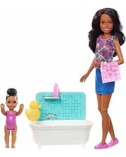 Barbie Skipper Babysitters Set Muñecas Barbie Niñera Jugue