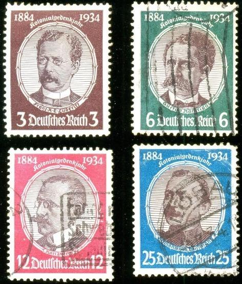 Alemanha Reich 1934 Pesquisadores Coloniais Veja + Selos