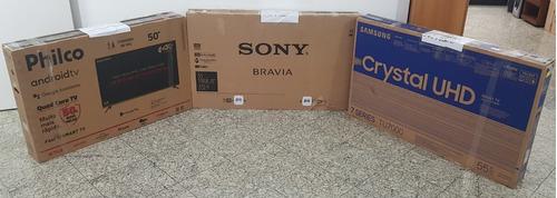 3 Smart Tvs Led4k C/avarias/sony 55-samsung 55-philco 50