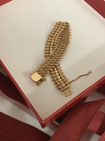 Pulseira Ouro Português 21k, : 29,9 Gr.-18,5cm Elegantíssima