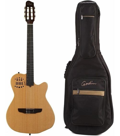 Violao Godin Multiac Acs Cedar Nylon Natural Com Bag