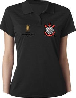 Camiseta Camisa Polo Feminina Torcedor Timão Corinthians