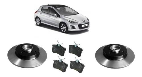 Imagen 1 de 3 de Discos Con Maza Y Pastillas Trasero Peugeot 308 1.6 2012/