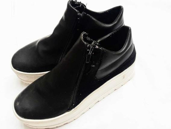 Botitas Zapatillas Negras Altas Negras Impecables