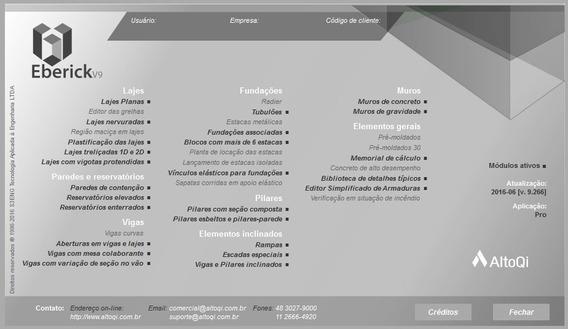 Software Eberick - Modelo V9 - Original