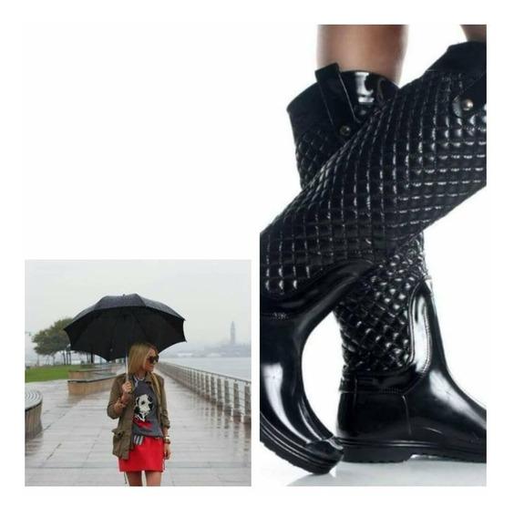 Botas De Lluvia Mujer Impermeables Las Mas Elegantes !!!