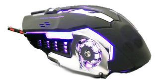 Mouse Gamer T9 6 Botones 3.200 Dpi