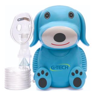 Nebulizador Infantil Nebdog Azul Inalador Bivolt G-tech