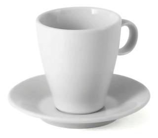 Set Jarrito Y Plato Cafe Conica Porcelana Tsuji Línea 1600