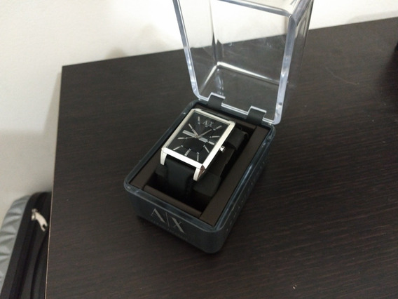 Relógio Armani Exchange Ax 2113 Pulseira Couro Preta