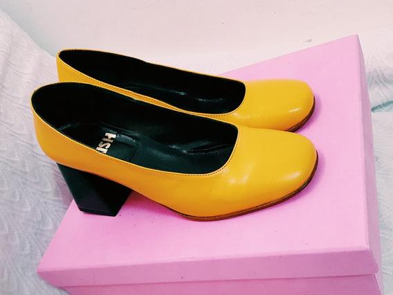 Zapatos Stilettos Mishka Amarillos Oportunidad