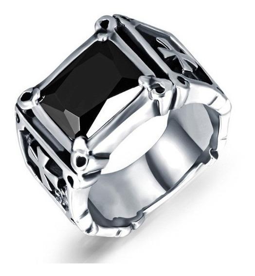Anel Pedra Ágata Lindo Modelo Masculino Homem Aço Inox 316 L