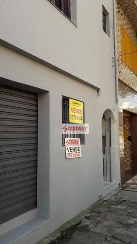Sobrado Com 2 Dormitórios À Venda, 100 M² Por R$ 600.000,00 - Cambuci - São Paulo/sp - So0279