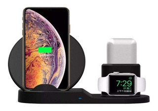 Carregador Sem Fio iPhone 3 Em 1 - iPhone Apple Watch Airpod