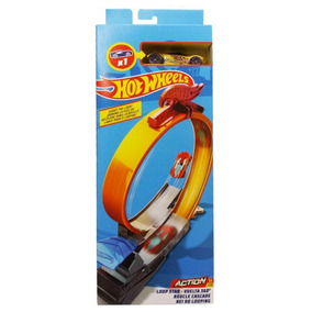 Pista E Veículo - Hot Wheels - Track Builder - Rei Do Loopin