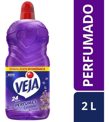 Imagem 1 de 7 de Limpador Perfumado Veja 2l Lavanda C/30% Desconto