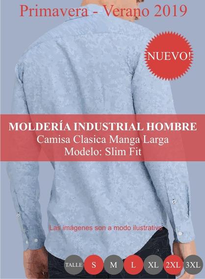 Molderia Industrial Moda / Camisa Clásica Slim Fit Hombre