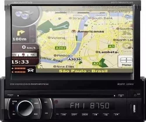 Dvd Retrátil 7 Napoli 7968 Gps Touch Tv Digital Sd Usb,bth