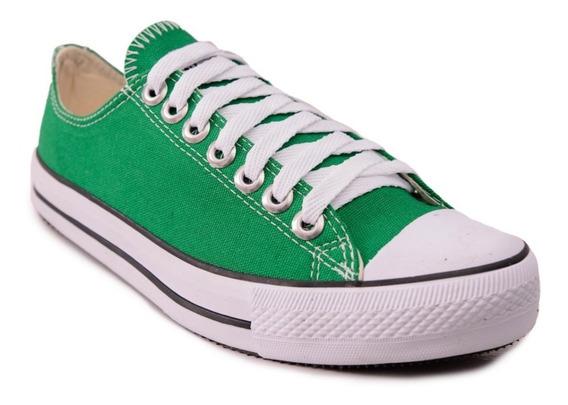 Tênis Converse All Star Cano Baixo Verde Bandeira Frete Grátis