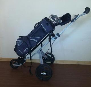 Kit Completo Palos Golf Titanio Calibrados (con Carrito)