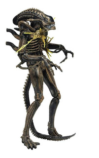 Neca Aliens 7 Scale Xenomorph Warrior Brown Battle Damaged