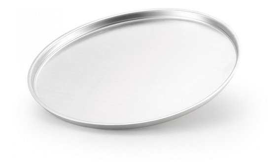 Forma De Pizza Nº 30 Alumínio Polido - Alumínio Oliveira