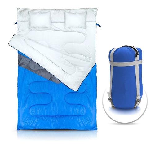Saco De Dormir Casal 2.1mx1.5m + Travesseiro Micron Kuple