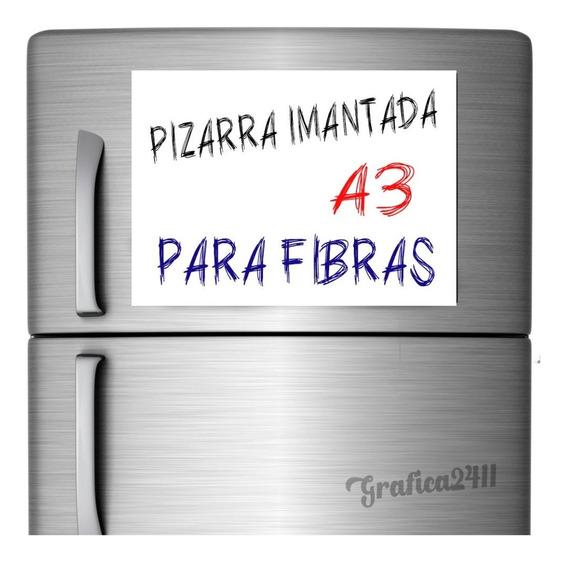 Vinilo Pizarra Pizarron Imantada Iman A3 Fibra Heladera A3
