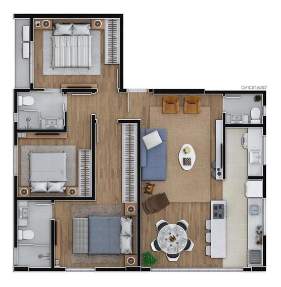 Apartamento Em Vila Nova, Blumenau/sc De 90m² 3 Quartos À Venda Por R$ 462.000,00 - Ap466285