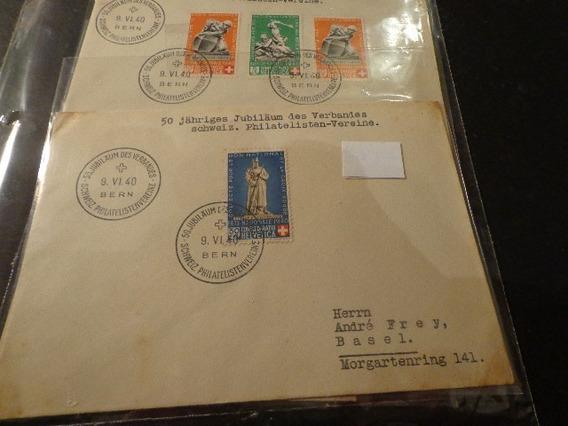 1940- Suiza/ Berna-lote De 3 Sobres-serie Cpl- N°349/53-ver