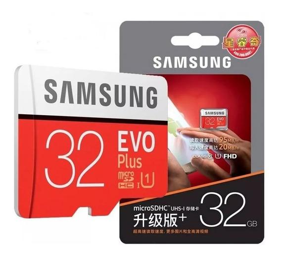 Cartao Micro Sdhc Samsung Evo Plus 32gb C10 95mb/s