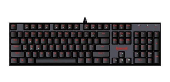 Teclado Mecânico Usb Redragon Mitra K551 Switches Red