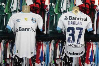 Grêmio 2018 Camisa Reserva Branca Tamanho P Número 37 Darlan
