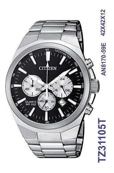 Relógio Masculino Citizen Tz31105t Aço Inoxidável Prata