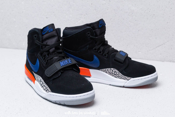 Tenis Air Jordan Legacy 312 Knicks Black/rush Blue-brilliant