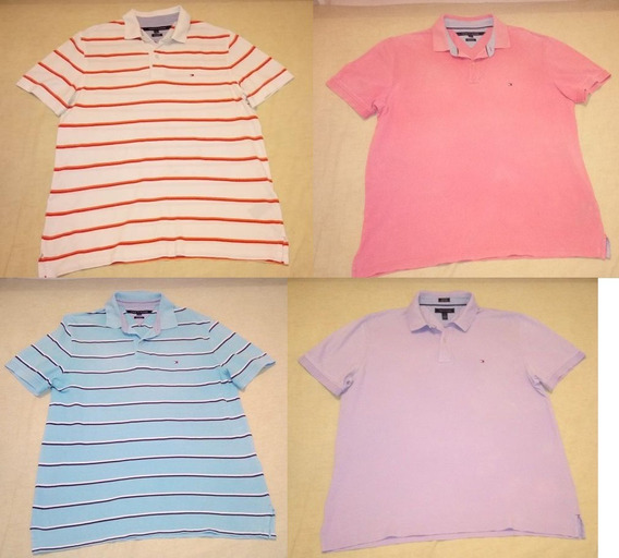 Lote 4 Polo Tommy Hilfiger Large Grandes Caballero