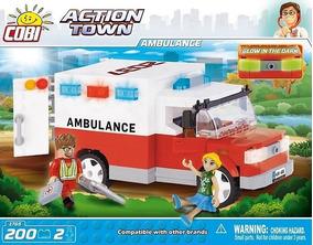 Van Ambulância Bloco De Montar Brinquedos Educativos