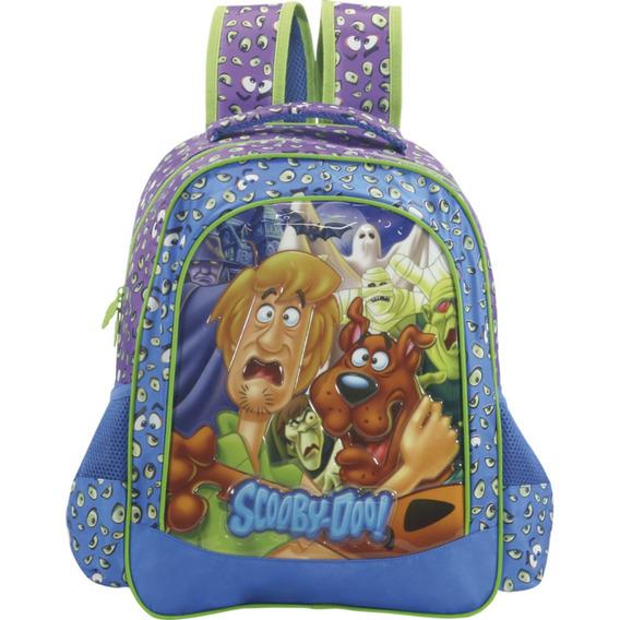Mochila 16 Scooby Doo Ghosts 7152 Em Pvc, Bolsos Externos, A