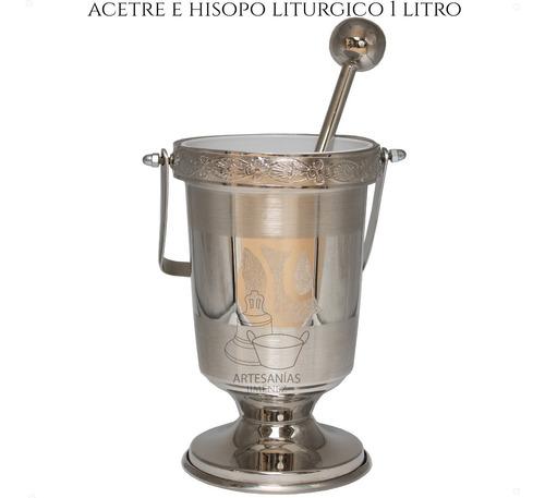 Imagen 1 de 6 de Acetre E Hisopo Para Agua Bendita Religioso 1 Litro Mediano