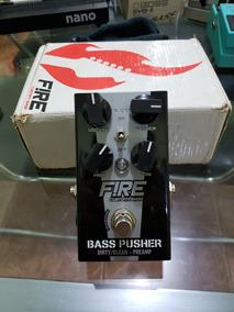Pedal Pre Amp & Drive Bass Pusher Fire