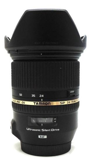 Lente Tamron Sp 24-70mm F/2.8 Di Vc Usd G1 Canon Seminova