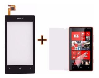 Tela Touch Screen Nokia Lumia 520 + Película + 1 Botão Chave