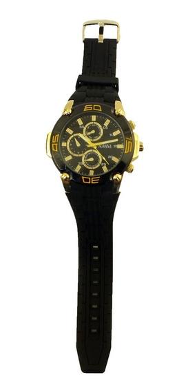Promoção Relógio Pulso Masculino Novana Pulseira Preta B5694