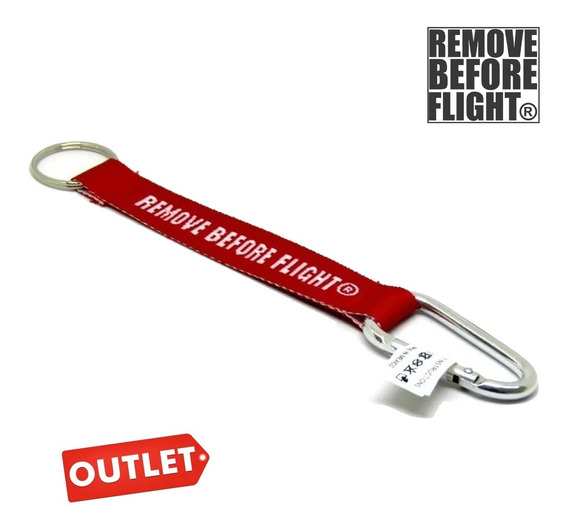 Llavero Remove Before Flight® Cargo Outlet