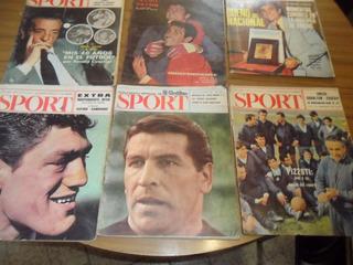 9 Revistas Sport El Grafico¡ 1964, 65 66 67 68 Coleccion¡